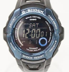 G-SHOCK Gショック カシオ CASIO 電波 ソーラー GW-700BDJ 黒 青 ブラック デジタル 腕時計◎