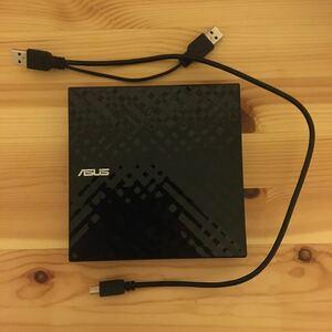 【箱、説明書等なし】ASUS 外付けDVDドライブ SDRW-08D2S-U LITE ブラック