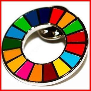 ★最安★★サイズ:1★ 17色 バッジ バッチ SDGs バッヂ jkaj239 留め具 日本未発売 (1) 国連 ピンバッジ 公式 襟章