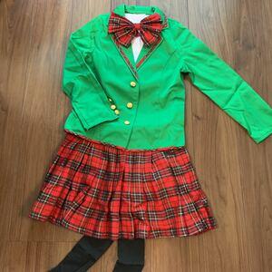 ハロウィン コスプレ ブレザー コスチューム セーラー服 制服 女子高生 レディース 大人用 アイドル 緑