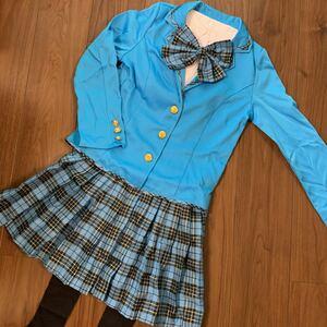 ハロウィン コスプレ ブレザー セーラー服 制服 女子高生 大人用 アイドル 水色 レディース コスチューム