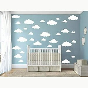 ホワイト CUGBO ウォールステッカー DIY 壁飾り 壁紙シール 部屋飾り ステッカー 雲 インテリア 子供部屋 居間 窓
