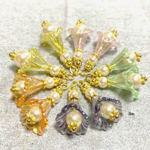 ハンドメイドパーツ(27)天使の舞 5ペア(10個)セット 高級人工真珠 日本製 高品質 ゴールドタイプ