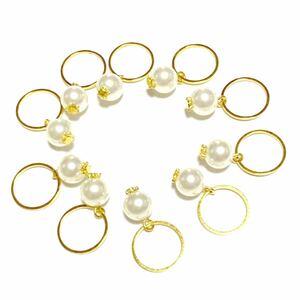 ハンドメイドパーツ(37)パールチャーム 高級人工真珠 高品質 日本製 全10個   アクセサリー クリスマスにも 在庫わずか