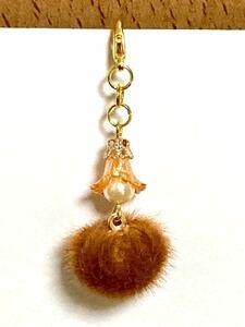 ハンドメイドチャーム(18) ゴールド     高級人工真珠のエンジェル ゆらゆら 約5.5cm 秋SALE品