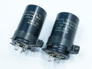ルビコン ブラックゲート 電源コンデンサー 2点セット SKZ 500V47-47μF 350V100-100μF #75117 rubycon black gate オーディオパーツ