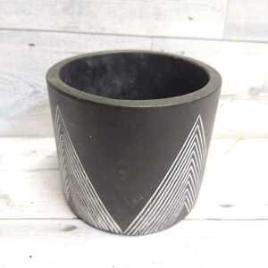 植木鉢 インテリアポット おしゃれ  コーデックス パキポディウム アガベ サボテン 塊根植物 黒 横幅内径10cm