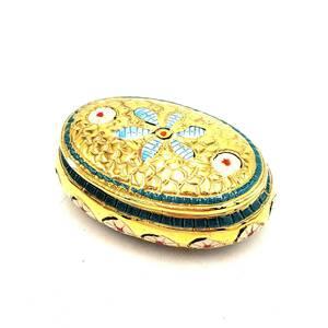 E10020 小物入れ ゴールド系 かわいい おしゃれ インテリア 花模様 コレクション 高さ3cm アクセサリーケース アンティーク 雑貨