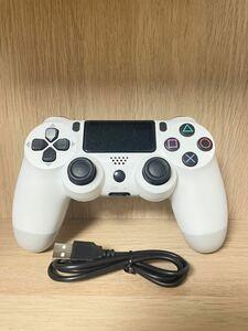 【新品】PS4 ワイヤレスコントローラー グレイシャーホワイト
