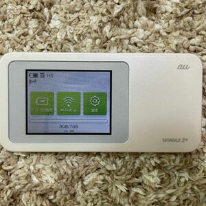 au WiMAX2 Wi-Fiルーター W01 ホワイト 白
