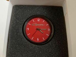 [ unused goods ] red color Copen in car clock Copen Logo . light L880K LA400K interior quartz button battery type Daihatsu red record surface red