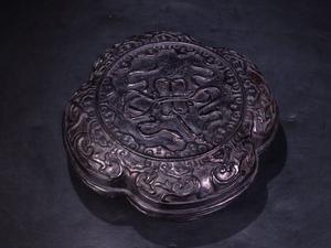 ■大成美術■珍材彫刻 八宝紋文房盒 (検)非常に良い香り 清代 唐物 中国美術 骨董 古玩