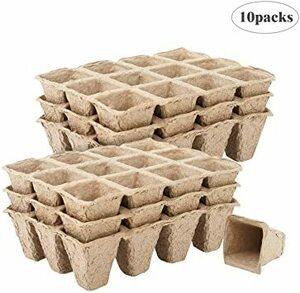 10点セット 育苗ポット Housolution ジフィーポット 植木鉢 12穴 分解性 種まき 植物栽培 野菜栽培 園芸用品