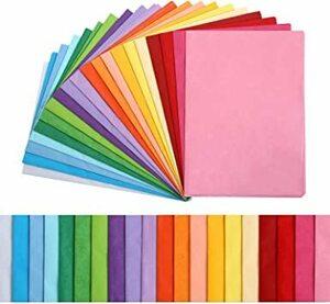 Kesote 包装紙 ラッピングペーパー 薄葉紙 100枚入 20色 35x50cm