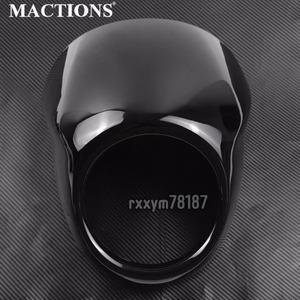 【1円スタート】6-199 オートバイグロスブラックフルヘルメットヘッドライト苦戦バイザーカバーハー XG500 750 2014 2015 2016