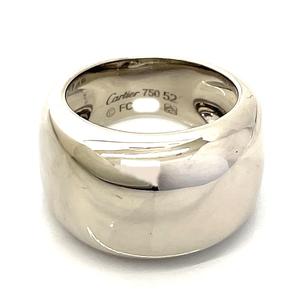 【中古】CARTIER カルティエ ヌーベルバーグ 750 ホワイトゴールド リング #52 日本サイズ12号 指輪