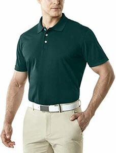 ポロシャツ(MTK10)-グリーン XS (テスラ)TESLA ポロシャツ メンズ 半袖 機能性 シャツ [UVカット・吸汗速乾