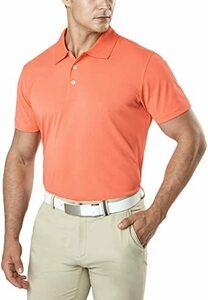 ポロシャツ(MTK10)-コーラル L (テスラ)TESLA ポロシャツ メンズ 半袖 機能性 シャツ [UVカット・吸汗速乾]
