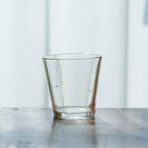 19世紀 フランス 教会で使われていた古い手吹きのキャンドルグラス / アンティーク1800年代 古道具 硝子 ガラス盃 コップ ワイングラス u