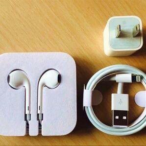 Apple付属品 イヤホン / USB充電器 & Lightningケーブル ACアダプタ 3点