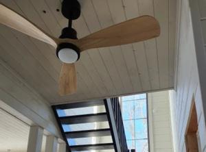 天井ファン LED 15W 100V 木製 シーリングファンライト リモコン 寝室 ホテル