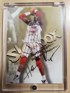 サイン 1998 -99 Skybox Autographics HAKEEM OLAJUWON Auto / ハキーム オラジュワン Autograph