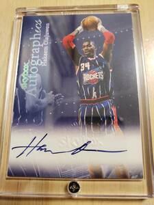 サイン 1999 -00 Skybox Autographics HAKEEM OLAJUWON Auto / ハキーム オラジュワン Autograph