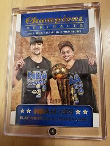 (#1/99) 2015 -16 Panini Hoops Champions Portraits Klay Thompson & Stephen Curry / クレイ トンプソン & ステフェン カリー SplashBros