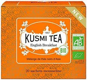 20ティーバッグ(個包装なし) KUSMI TEA クスミティー イングリッシュブレックファスト 2.0g x 20個入 (個別