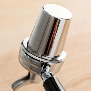 120ミリリットルステンレス鋼コーヒー投薬カップ粉末供給装置パーツシルバーコーヒーグラインダー投薬カップ58ミリメートルエスプレッソ機