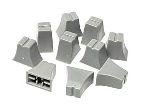 グラフィック・イコライザー スライドボリューム用 ツマミ 4mm軸用 10個セット (グレーベース・グレー) 12mm x 7mm x 高さ10.5mm