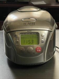 SANYO 炊飯器 ジャー 圧力IH 5合 サンヨー 単身赴任や1人暮らしに