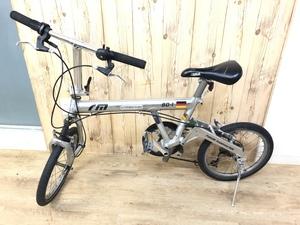 【中古】R&M riese und muller 折りたたみ自転車 BD-1 18インチ SHIMANO CAPREO シルバー 2003年モデル サドル固定されず 直接引取可能