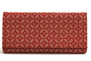美品!INDEN-YA 印傳屋 印伝 長財布 鹿革 ディアスキン 漆塗り 小銭入れあり 日本製 w5124