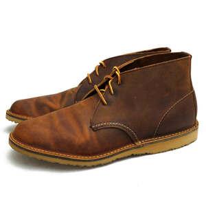 新品同様!レッドウィング チャッカブーツ シューズ Copper Rough & Tough 牛革 3322 Weekender Chukka US10.5 x6021