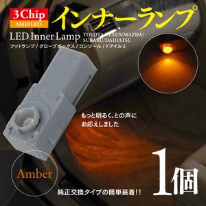 【即決】3chip SMD LEDインナーランプ アンバー 1個【ブレイド AZE・GRE15系】