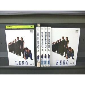 【KN】YA01323★レンタル版★HERO 1~6 (全6枚)(全巻セット中古DVD)[木村拓哉/松たか子][邦画/TVドラマ]