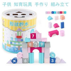 おもちゃ 子供 知育玩具 セット 手作り 組み立て ビーズ アクセサリーキット 指先訓練 教育 モンテッソーリ ブロック 積み木 木製 50個