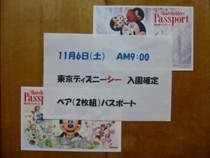 11月6日(土)9:00入園確定 東京ディズニーシー ペア(2枚組)パスポート