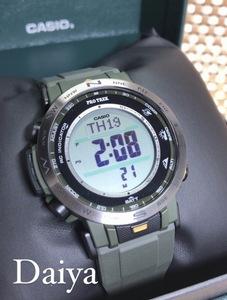 新品 CASIO カシオ 正規品 PROTRECK プロトレック 腕時計 カーキ デジタル ソーラー アウトドア 多機能腕時計 メンズ 防水 PRW-30Y-3