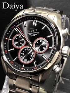 新品 TECHNOS テクノス 正規品 オールチタン シルバー ブラック 多機能腕時計 アナログ腕時計 クロノグラフ 5気圧防水 クオーツ メンズ