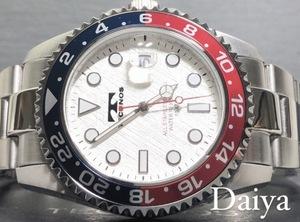 新品 TECHNOS テクノス 正規品 オールステンレス シルバー ホワイト 多機能腕時計 アナログ腕時計 カレンダー 10気圧防水 クオーツ メンズ