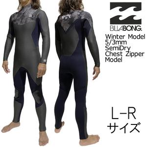 2021-22年モデル L-Rサイズ BTD メンズ Billabong ビラボン ウェットスーツ 5/3mm セミドライ フルスーツ チェストジップ bb018605