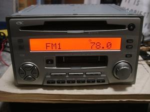 三菱純正 EK カセットテープ ラジオ(FM/AM) CD/MD 2Din MC-2000LP-E 14ピン 三菱旧タイプカプラー カセットデッキ 訳あり