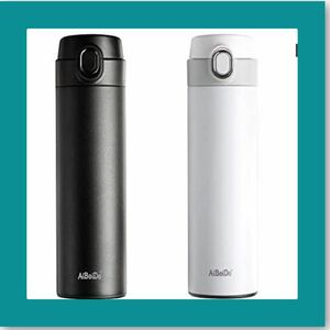 水筒 真空断熱保温保冷ステンレスボトル 480ML ブラック+ホワイト