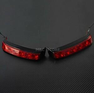 ハーレー FLHシリーズ ウインカーライト LED ターンライト ブラック FLHTCU FLHTK FLHX FLHR FLHRSE FLHTKSE 1