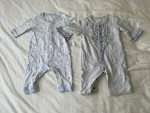 UNIQLO baby ユニクロ petit editer カバーオール 2枚セット 50 60 ベビー 子供服 プチエディテ ベルメゾン 中古