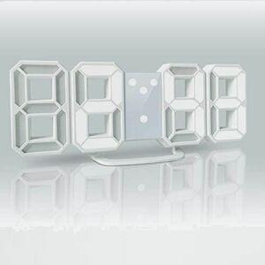 新品 未使用 LEDデジタル デジタル時計 T-2Z ホワイト AL-02-W-N 目覚まし時計 時計 壁掛け 3D led wall clock 置き時計 置時計