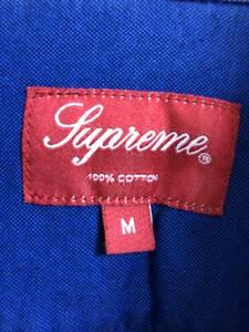 SUPREME シュプリーム オックスフォード ボタンダウンシャツ Mサイズ ロイヤルブルー