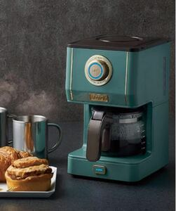 アロマドリップコーヒーメーカー (スレートグリーン) ドリップ式 蒸らし機能 自動保温機能 ガラスポット メッシュフィルター付き